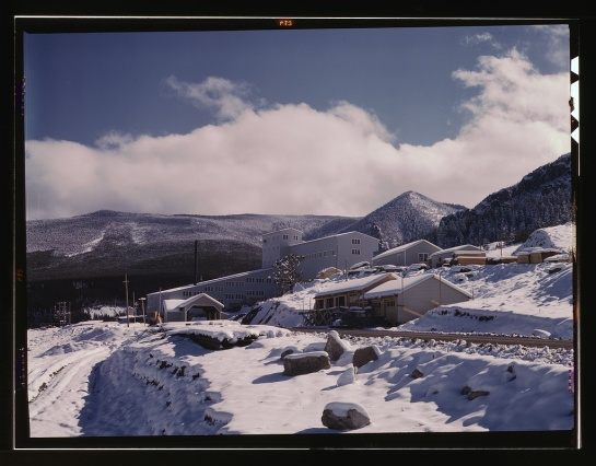 First snow of the season in the foothills of the Little Belt Mountains, Lewis and Clark National Forest, Meagher County, Montana, August 1942. Photo by Russell Lee, (FSA)/Office of War Information (OWI), courtesy Library of Congress Prints and Photographs Division Washington, D.C., Farm Security Administration/Office of War Information Color Photographs Collection. http://www.loc.gov/pictures/item/fsa1992001481/PP/