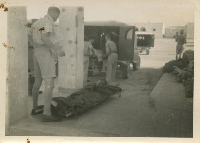 AFS ambulance drivers evacuating Tobruk Hospital in Libya in 1942. Photograph by Arthur Howe, Jr., courtesy of the Archives of the American Field Service and AFS Intercultural Programs.