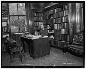 The Librarian, U.S. Naval Academy, ca. 1890-91. Photo by Detroit Publishing Co., courtesy Library of Congress Prints and Photographs Division: http://www.loc.gov/pictures/item/det1994001136/PP/
