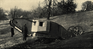 "British ""Centipede""/""Mother""/""Big Willie"" tank, ca. 1916--afterwards known at the Mark I Tank, from"