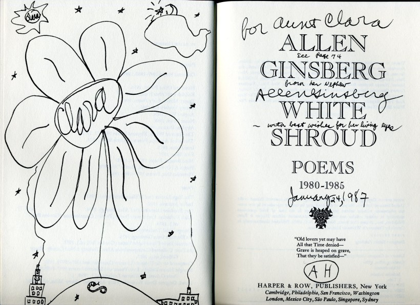 Ginsberg, Allen - White Shroud, Poems 1980-1985, 1986 - inscription 1